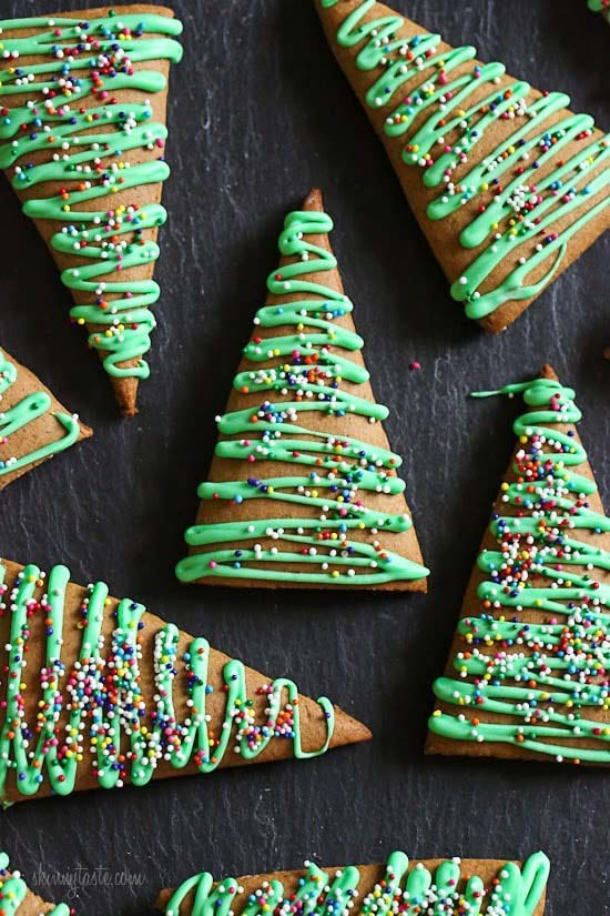 Gingerbread Christmas Trees #Christmas #cookie #recipes #trendypins