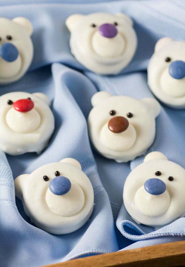 Polar Bear Cookies #Christmas #cookie #recipes #trendypins