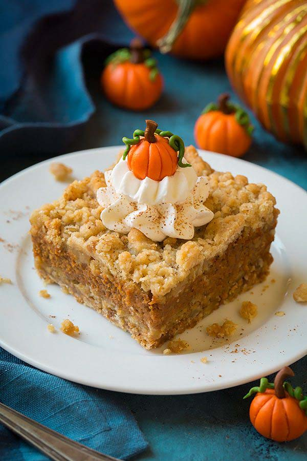 Pumpkin Pie Crumb Bars #Christmas #cookie #recipes #trendypins
