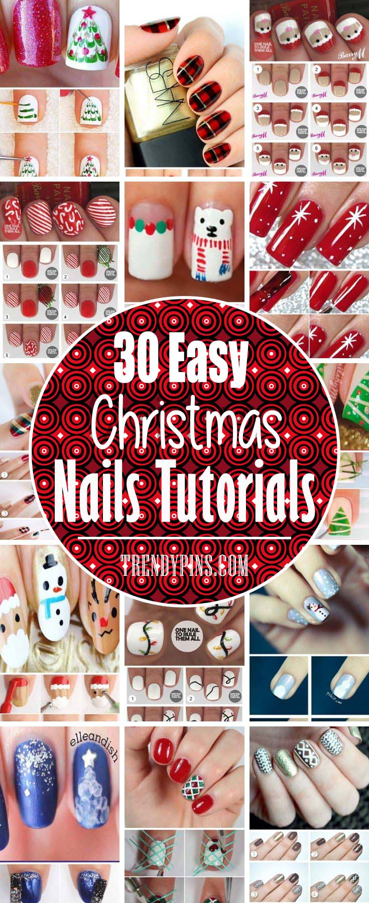 With Christmas season here, why not style your nails to match? Consider these beautiful options #Christmas #nails #tutorials #trendypins