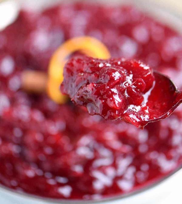 Best Ever Cranberry Sauce #Christmas #recipes #dinner #trendypins
