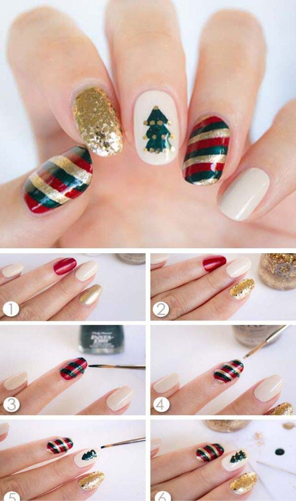 Christmas Colored Nails #Christmas #nails #tutorials #trendypins