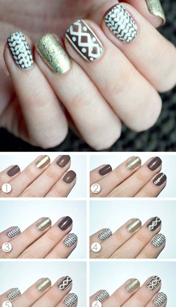 Christmas Sweater Nails #Christmas #nails #tutorials #trendypins