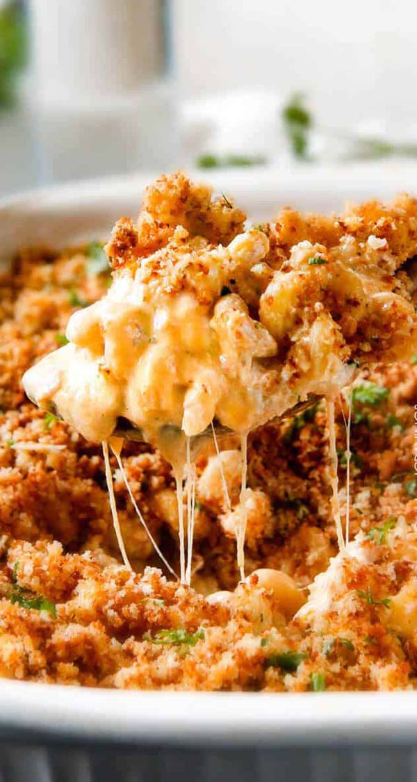 Million Dollar Macaroni and Cheese Casserole #Christmas #recipes #dinner #trendypins