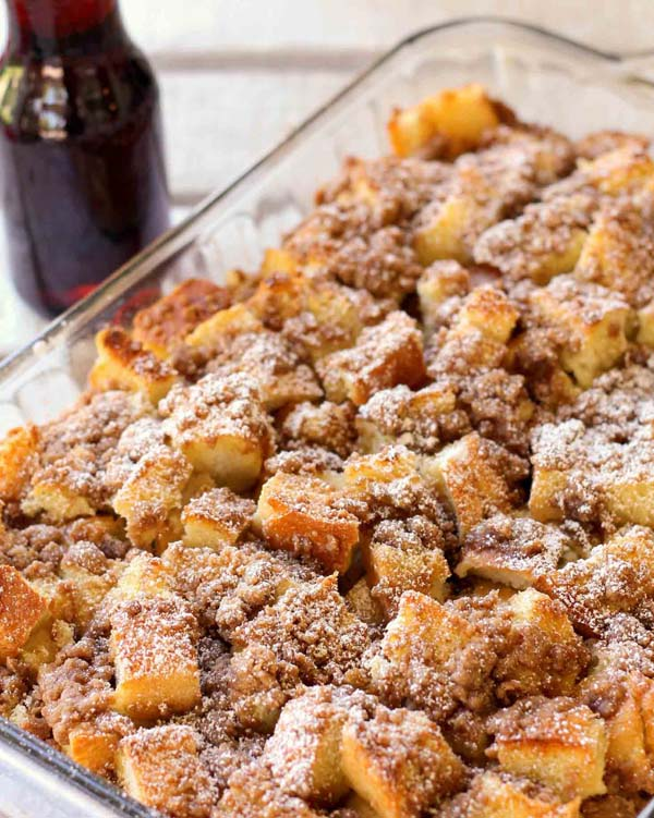 Overnight French Toast Bake #Christmas #recipes #dinner #trendypins