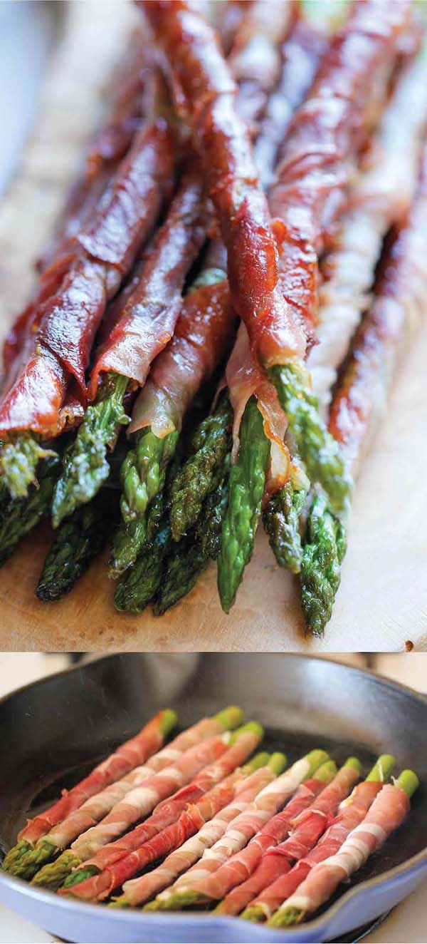 Prosciutto Wrapped Asparagus #Christmas #recipes #dinner #trendypins