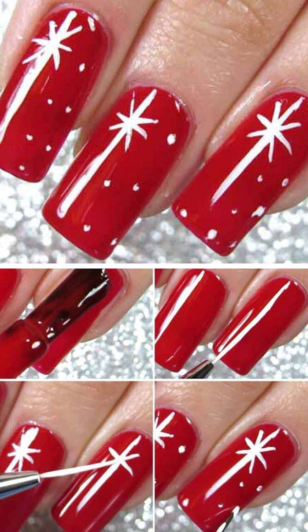 Simple Christmas Nails #Christmas #nails #tutorials #trendypins