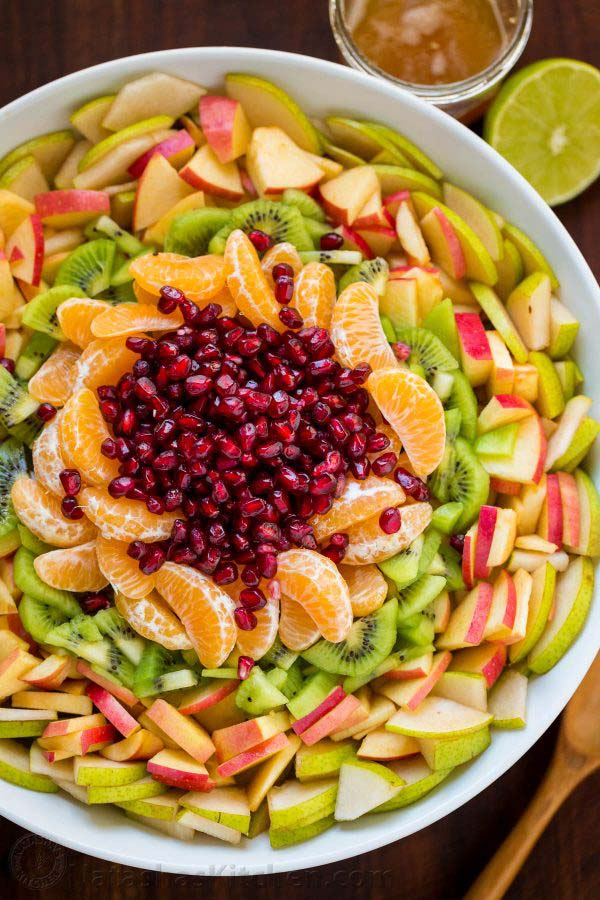 Winter Fruit Salad #Christmas #recipes #dinner #trendypins