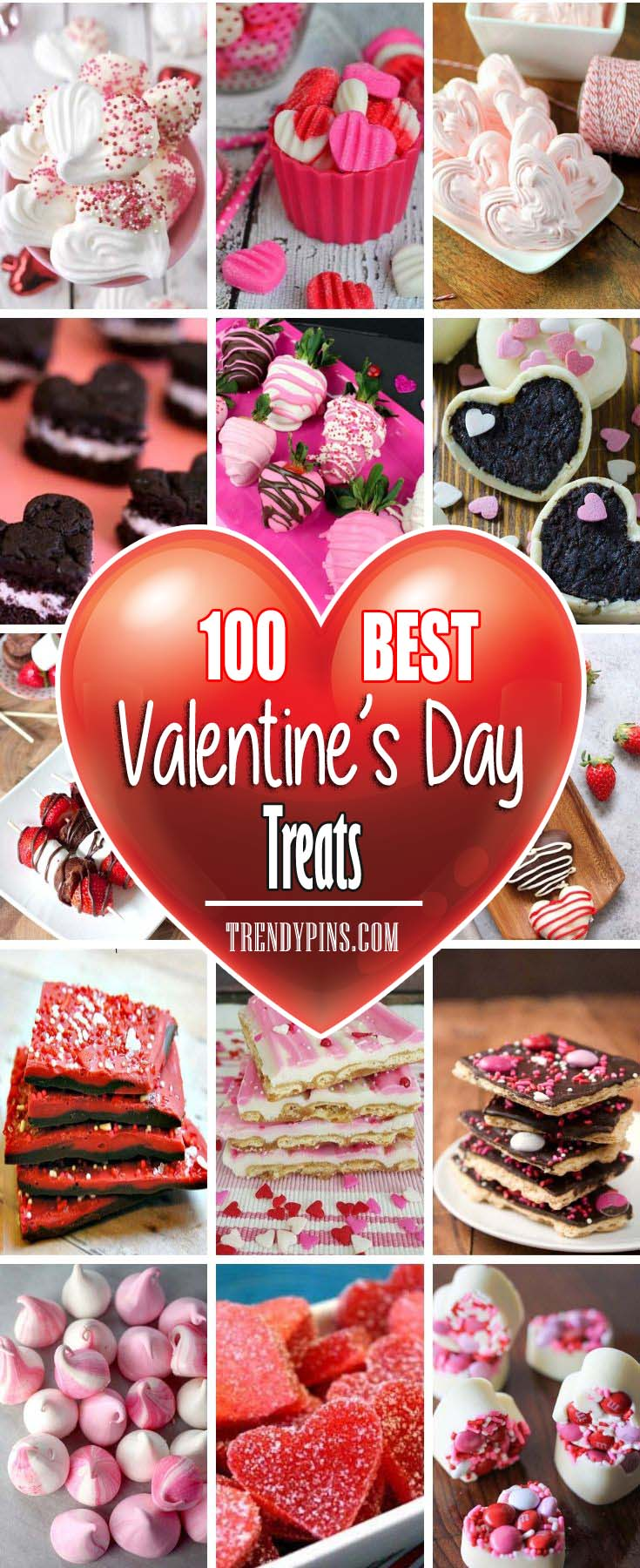 Try any of these chocolate, strawberry or marshmallow filled treats #Valentine's Day #recipes #treats #trendypins