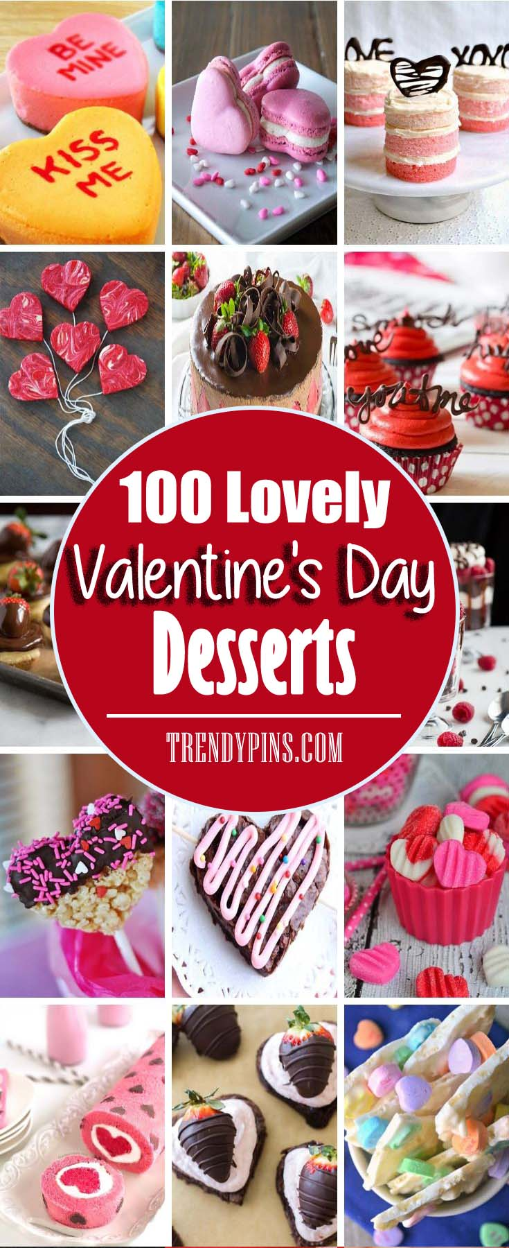 Enjoy these many treats from simple to complicated, for a delicious addition to a sweet holiday. #Valentine's Day #recipes #desserts #trendypins