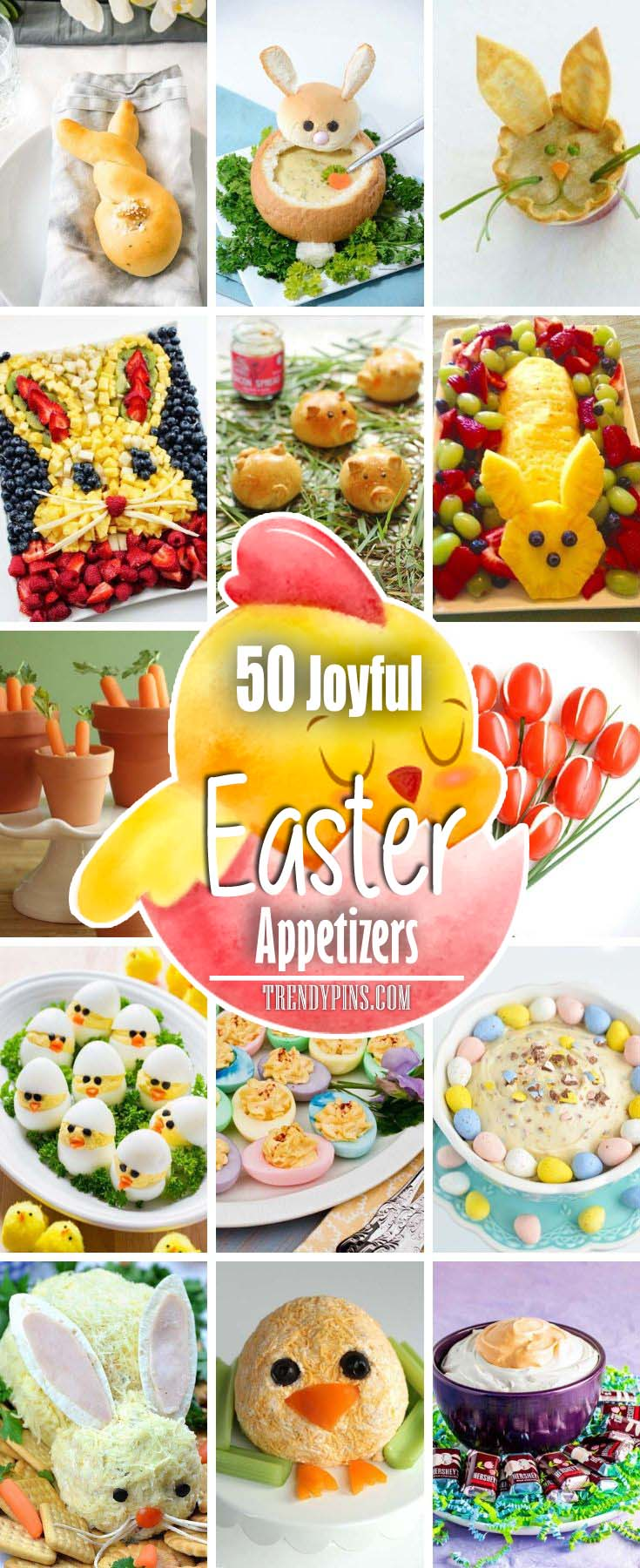 There are many recipes out there from super simple to more complex. Try these delicious DIY snack ideas. #Easter #appetizers #recipes #trendypins