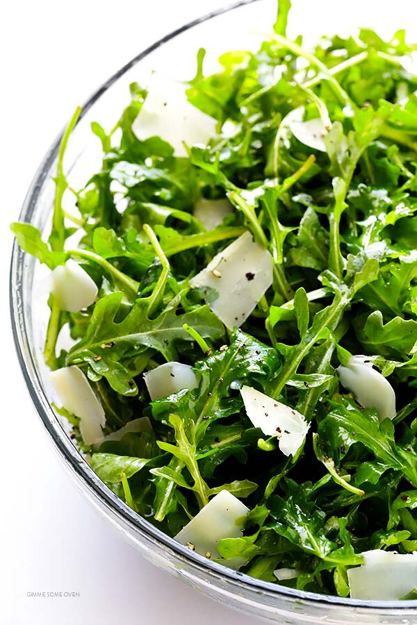 Arugula Salad with Parmesan Lemon and Olive Oil #Easter #dinner #recipes #trendypins