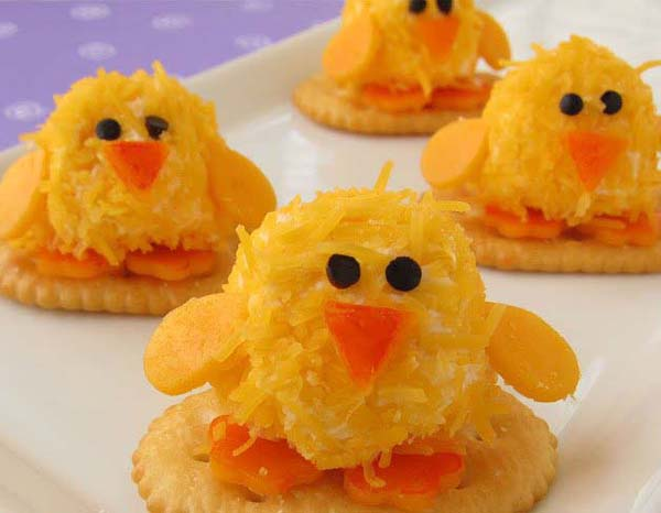 Baby Chick Cheese Balls#Easter #appetizers #recipes #trendypins