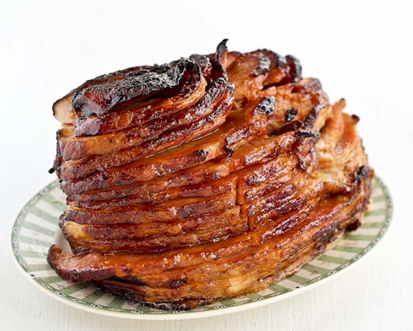 Baked Ham With Pineapple Brown Sugar Glaze #Easter #dinner #recipes #trendypins