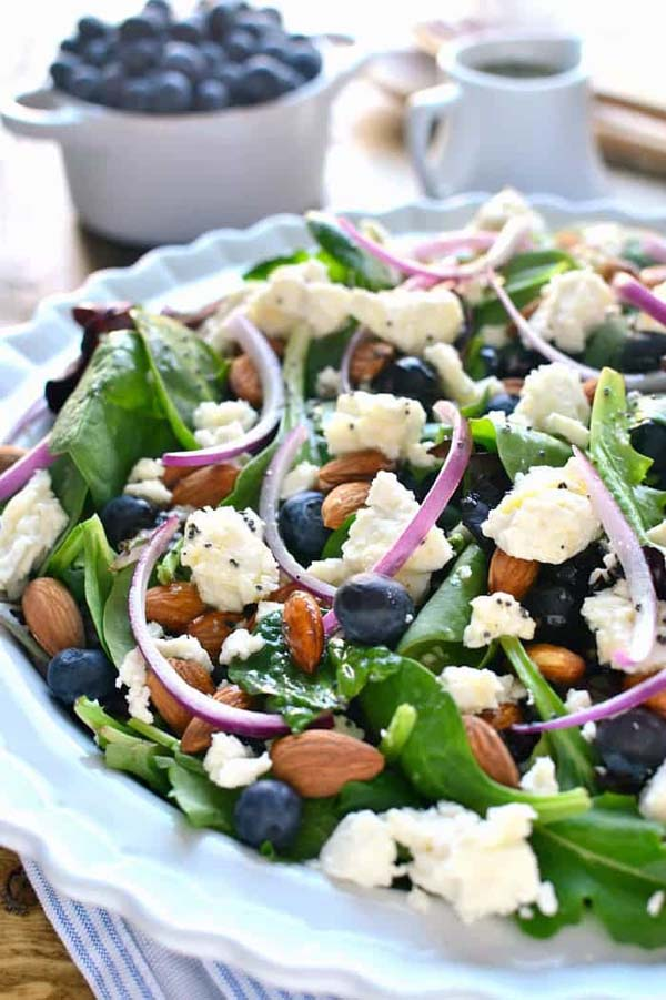 Blueberry Feta Salad #Easter #dinner #recipes #trendypins