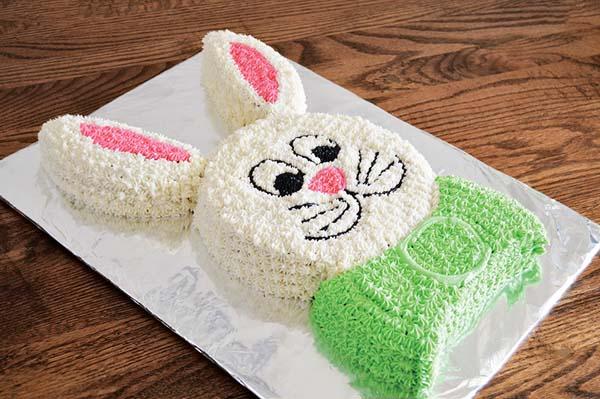 Bunny Cut Up Cake #Easter #desserts #recipes #trendypins