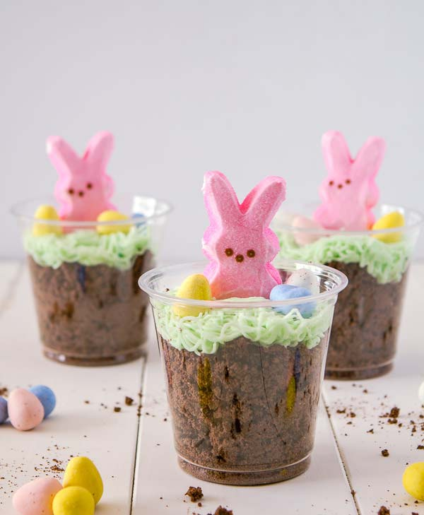 Bunny Dirt Cups #Easter #treats #recipes #trendypins