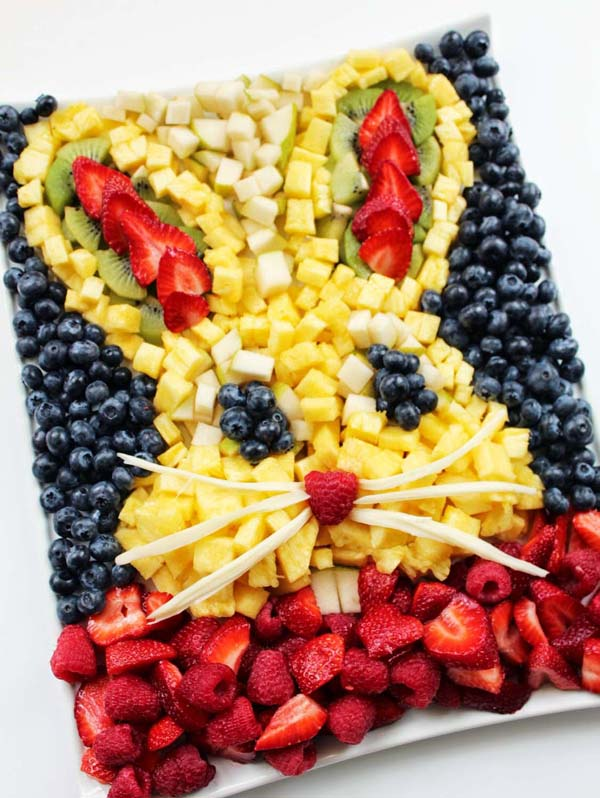 Bunny Head Fresh Fruit Platter #Easter #appetizers #recipes #trendypins