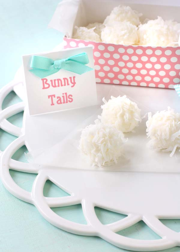 Bunny Tail Treats #Easter #treats #recipes #trendypins
