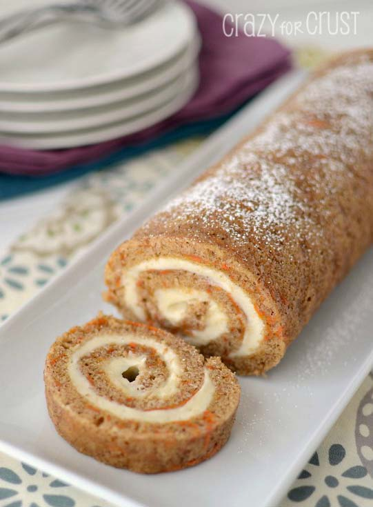 Carrot-Cake-Roll #Easter #cakes #recipes #trendypins