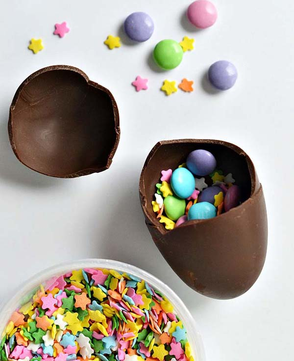Chocolate Confetti Eggs #Easter #treats #recipes #trendypins