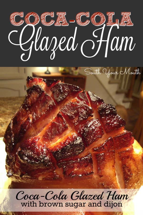 Coca-Cola Glazed Ham with Brown Sugar and Dijon #Easter #dinner #recipes #trendypins
