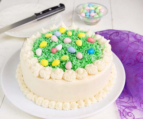 Coconut Easter Cake #Easter #cakes #recipes #trendypins