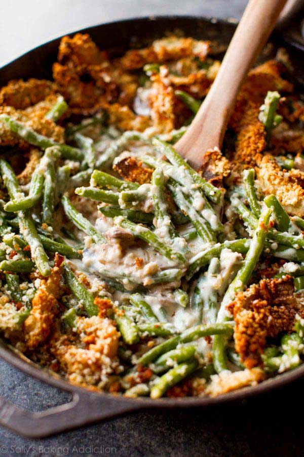 Creamy Green Bean Casserole #Easter #dinner #recipes #trendypins