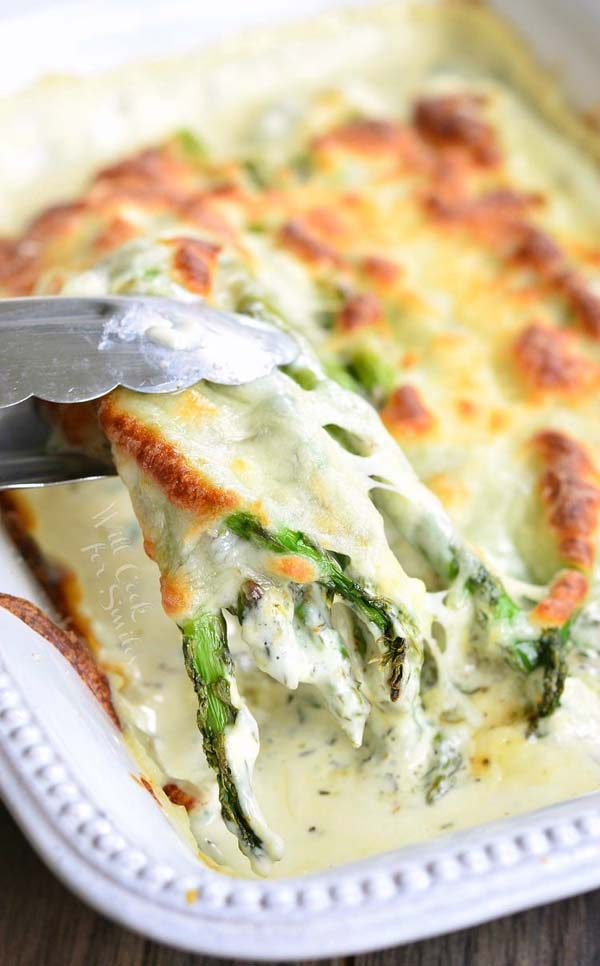 Creamy Italian Asparagus #Easter #dinner #recipes #trendypins