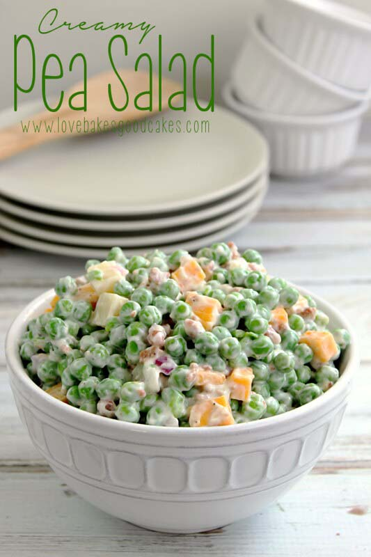 Creamy Pea Salad #Easter #dinner #recipes #trendypins