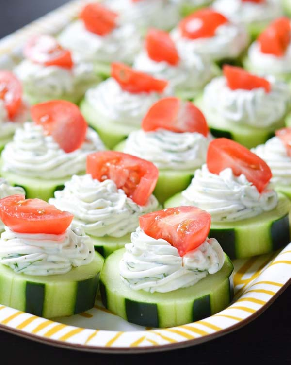 Dilly Cucumber Bites #Easter #dinner #recipes #trendypins