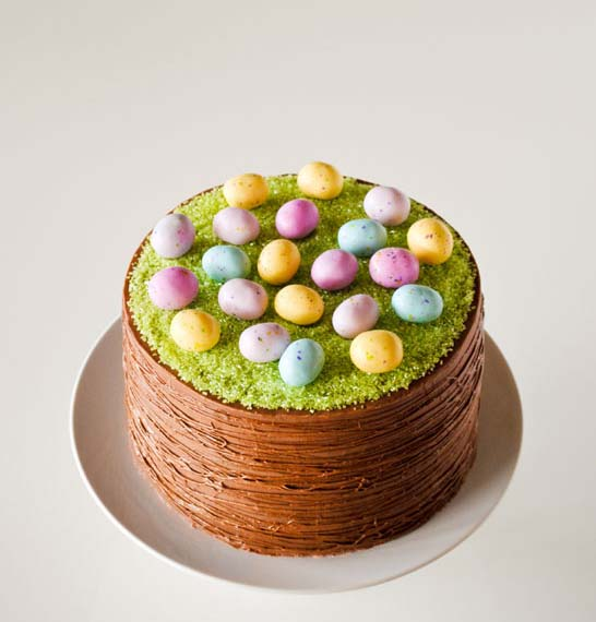 DIY Easter Basket Cake #Easter #dinner #recipes #trendypins