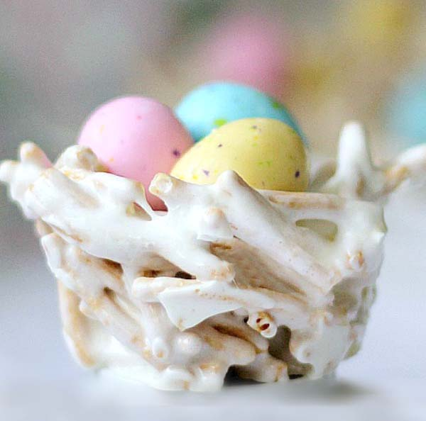 Easter Bird Nests #Easter #treats #recipes #trendypins