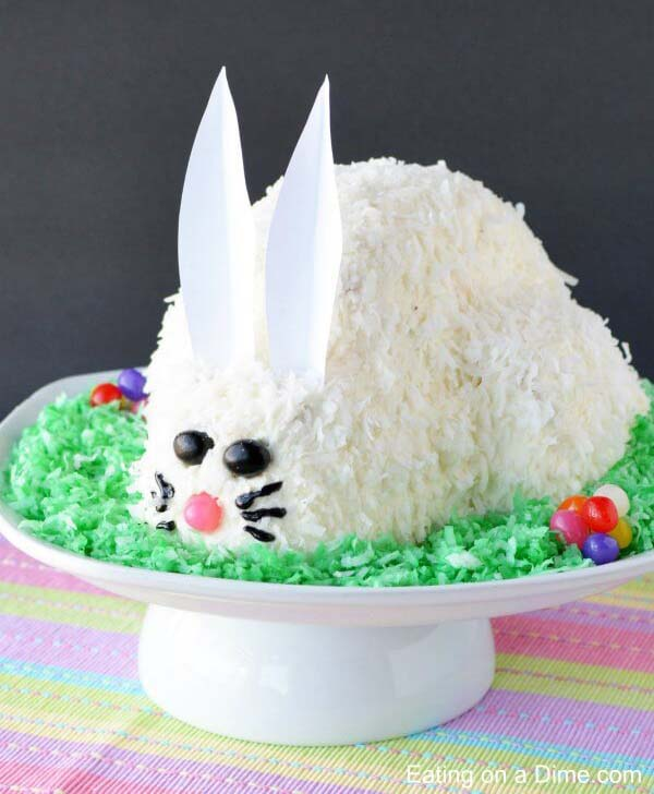 Easter Bunny Cake Idea #Easter #cakes #recipes #trendypins