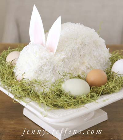 Easter Bunny Cake #Easter #dinner #recipes #trendypins