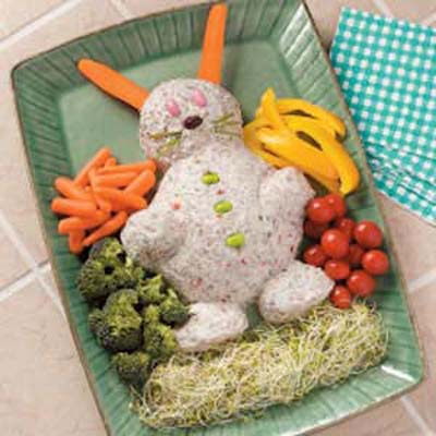 Easter Bunny Cheese Spread#Easter #appetizers #recipes #trendypins