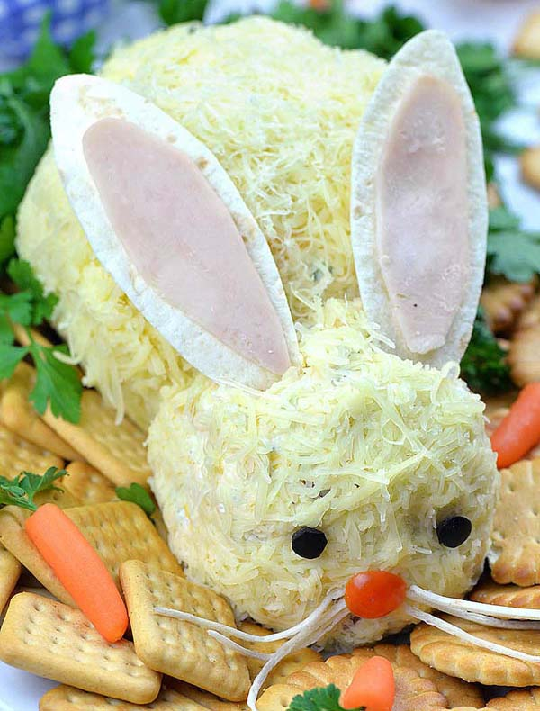Easter Bunny Cheeseball#Easter #appetizers #recipes #trendypins