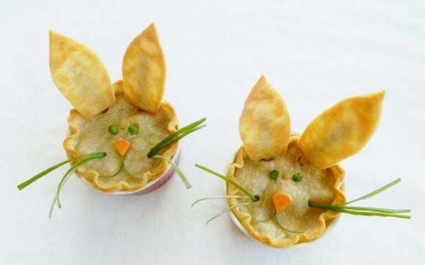 Easter Bunny Chicken Pot Pies#Easter #appetizers #recipes #trendypins