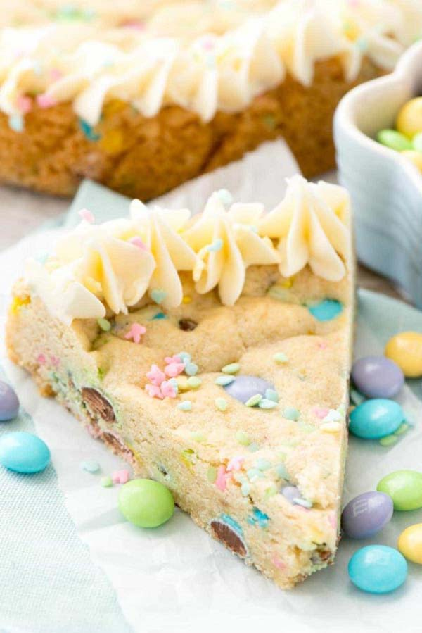 Easter Cookie Cake #Easter #cakes #recipes #trendypins