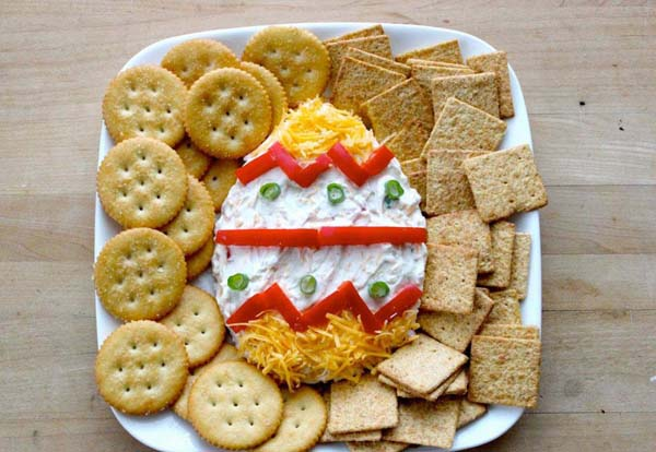 Easter Egg Greek Yogurt Cheese Dip#Easter #appetizers #recipes #trendypins