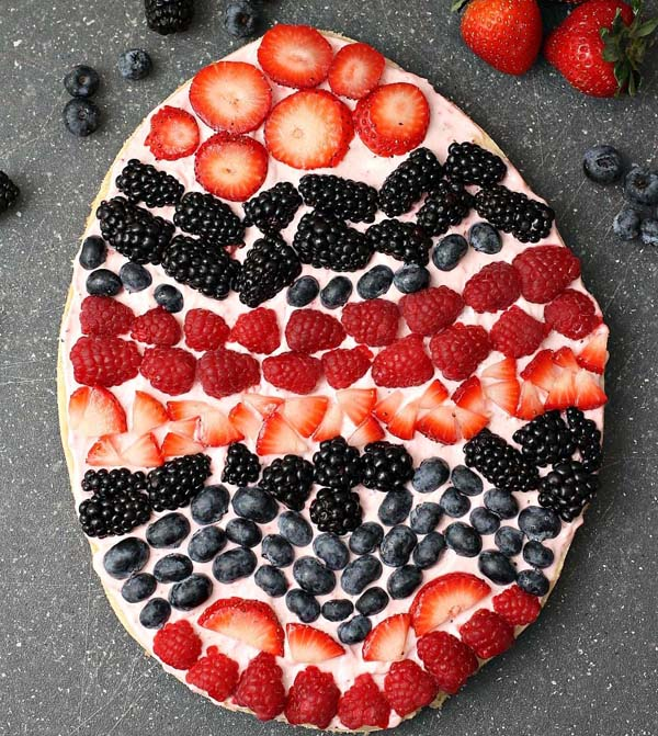 Easter Fruit Pizza Version 2 #Easter #appetizers #recipes #trendypins
