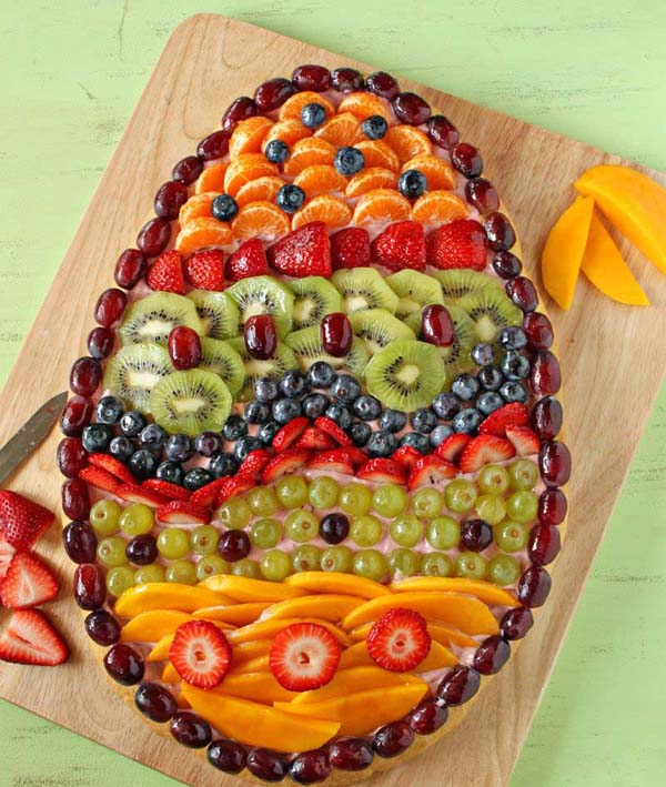 Easter Fruit Pizza #Easter #dinner #recipes #trendypins
