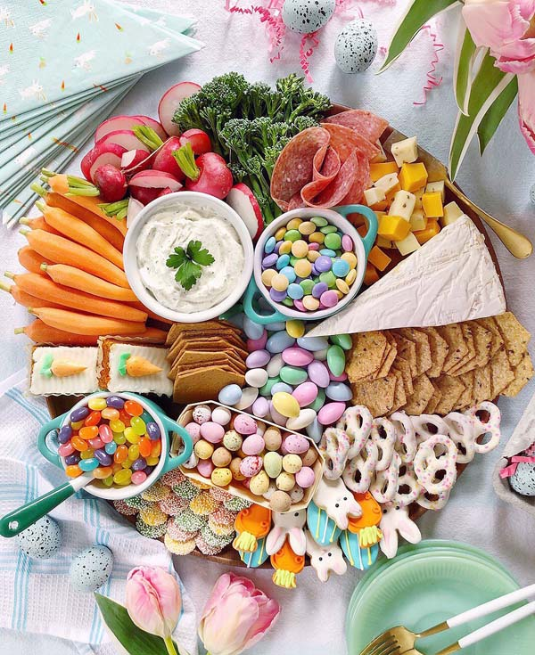 Easter Grazing Board#Easter #appetizers #recipes #trendypins