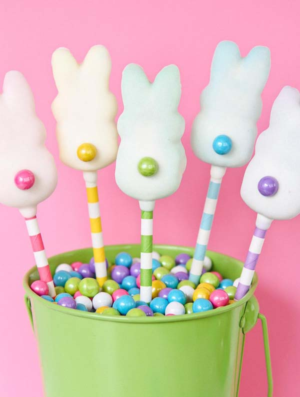 Easter Peeps Pops #Easter #treats #recipes #trendypins