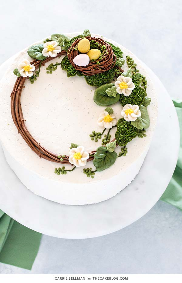 Easter Wreath Cake #Easter #cakes #recipes #trendypins