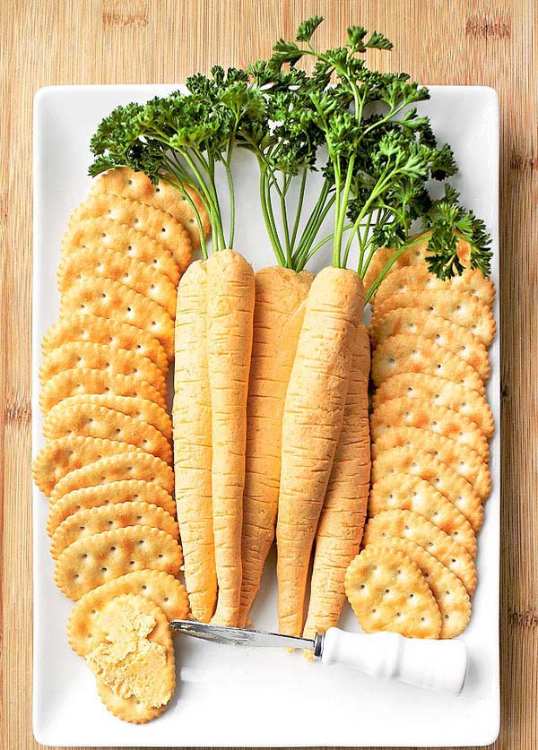 Easy Cheese Carrots#Easter #appetizers #recipes #trendypins