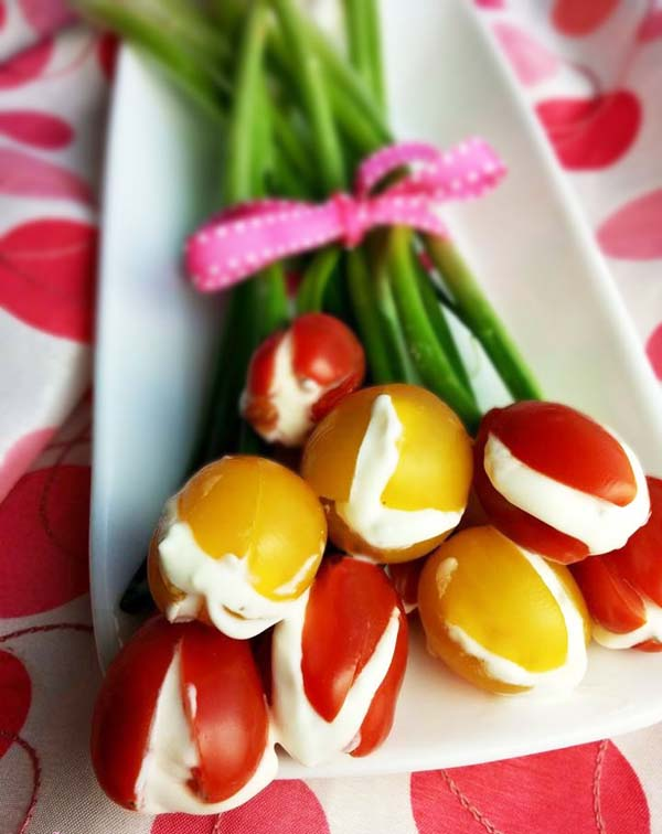 Edible Tulips #Easter #appetizers #recipes #trendypins