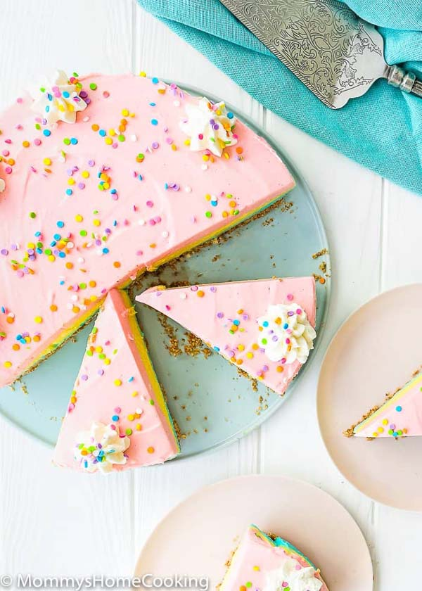 No Bake Easter Cheesecake #Easter #cakes #recipes #trendypins