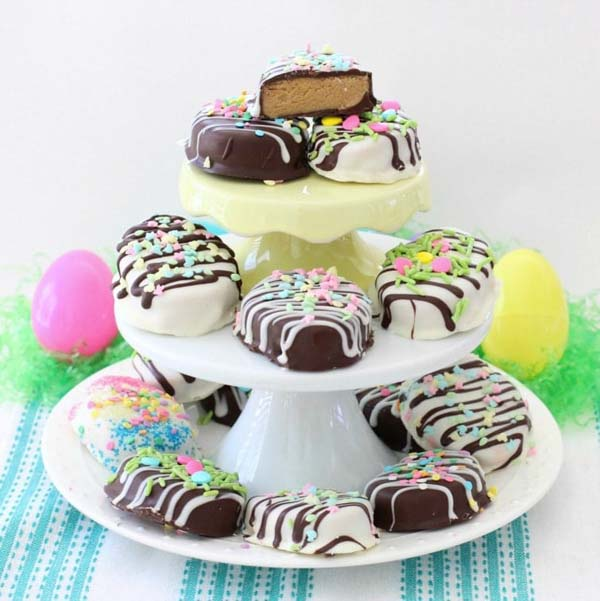 Peanut Butter Easter Eggs #Easter #treats #recipes #trendypins