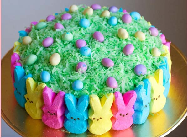 Peep Easter Cake #Easter #cakes #recipes #trendypins